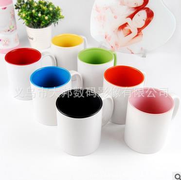熱轉印杯子批發白杯馬克杯涂層杯diy印影像變色杯杯批發A級內