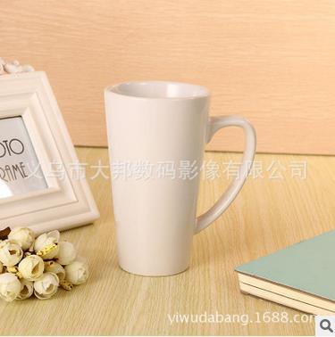 熱轉印杯子批發白杯馬克杯涂層杯影像杯印像杯變色杯批發錐形白杯