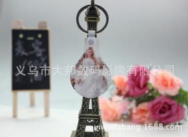 厂家直销热转印空白钥匙扣 MDF木质钥匙扣 灯泡形状 个性定