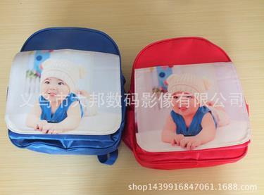 儿童节幼儿园男女童小中大班照片小书包印字印logo广告包定制