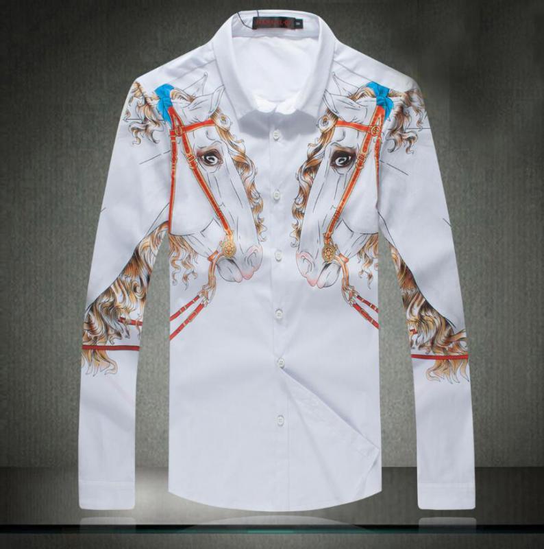 棉布衬衣数码直喷彩印加工