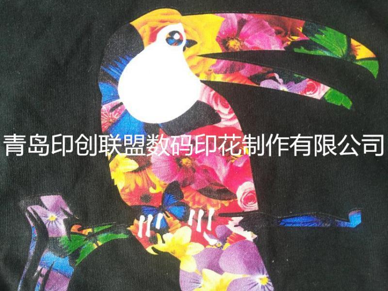 供应青岛匹布数码印花匹布和裁片直喷数码印花