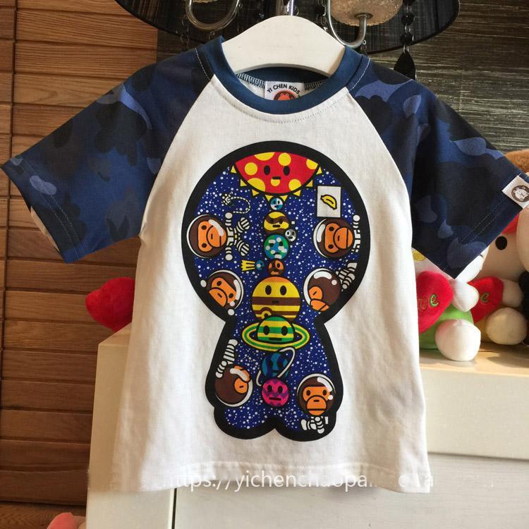广州纯棉童装t恤数码直喷印花加工/纯棉童装衬衣数码彩印加工