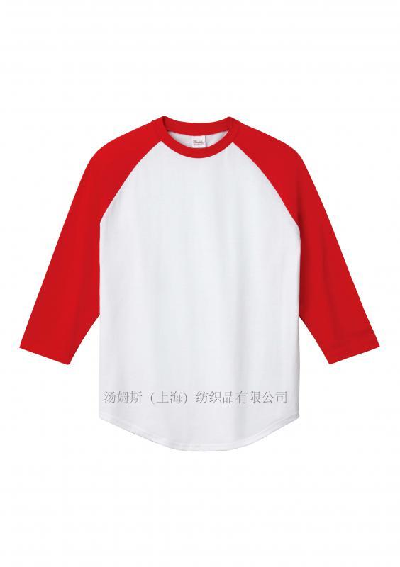 插肩式棒球T恤