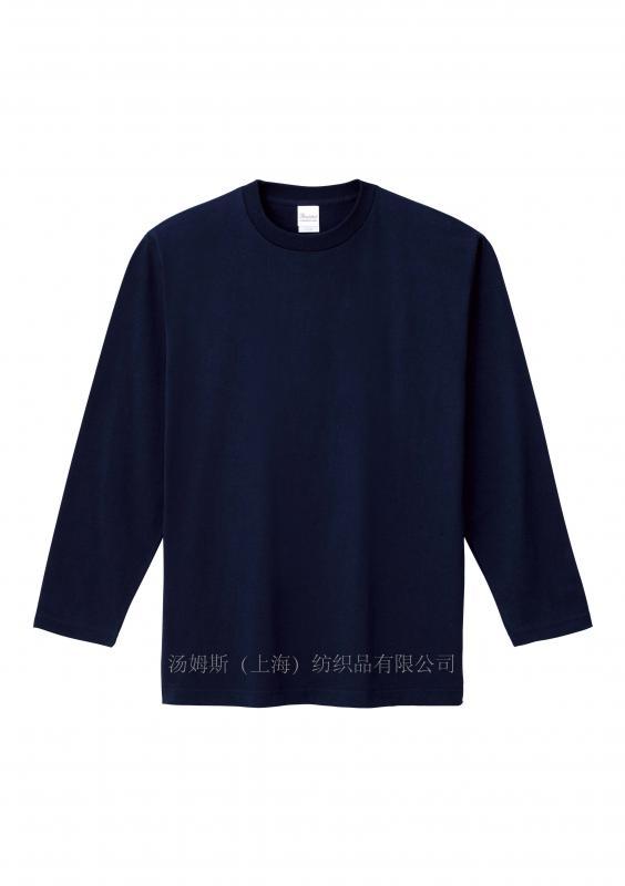 全棉圆领长袖T恤