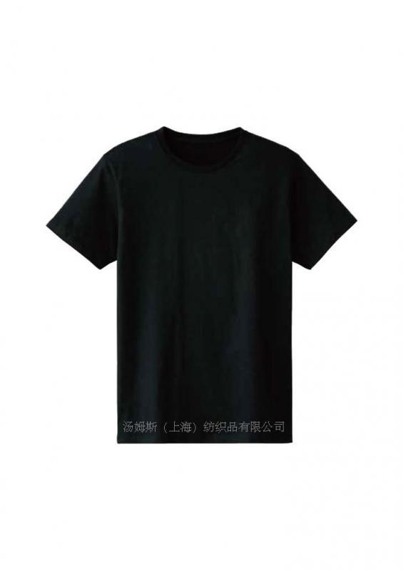 柔软消毛圆领T恤