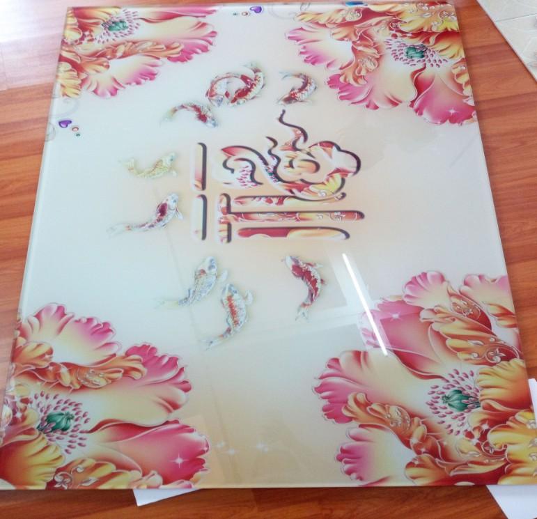 深圳玻璃uv彩印喷绘加工玻璃面板制作