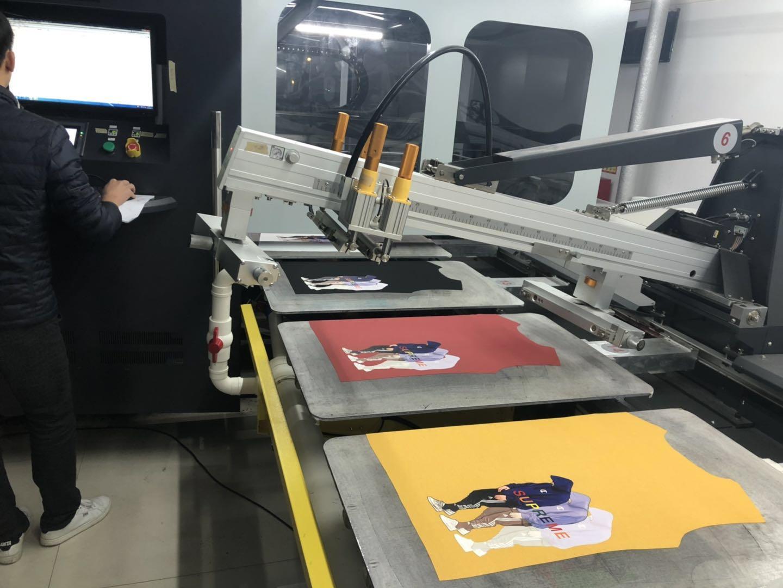 车间实物图,广州白墨机直喷爱唯侦察1024厂
