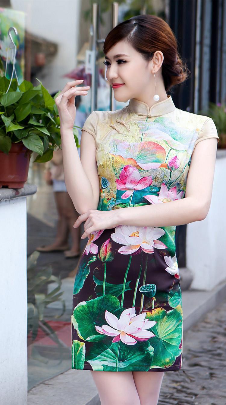 旗袍滿印,重慶數碼印花加工,服裝印花