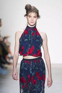 纽约时装周:浓艳印花