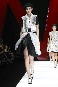 高贵优雅的印花新时代£¡Giorgio Armani 2018春夏女装秀