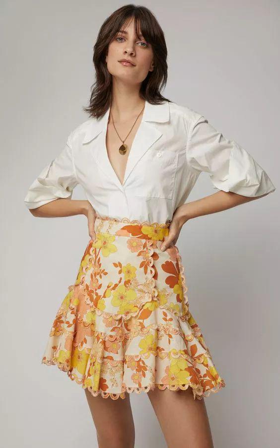 清新亚麻印花裙,穿出优雅时尚感