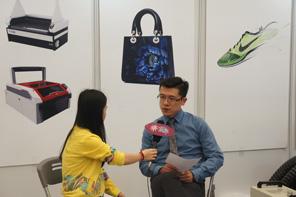 2016上海数码印花工业展  集萃网专访武汉金运激光股份有限公司